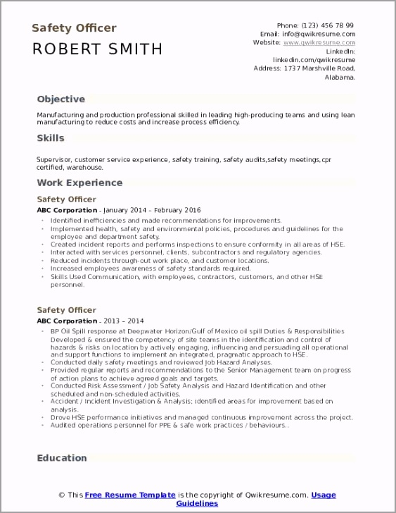 safety officer pdf earyw