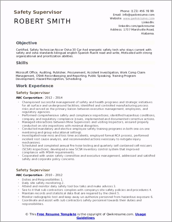 safety supervisor pdf oaieu