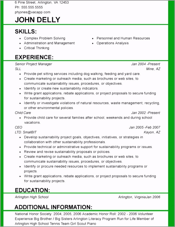 functional resume template 2015 new 1 taprt