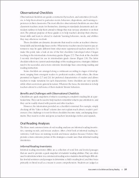 classroom reading assessments serafini sample tohit