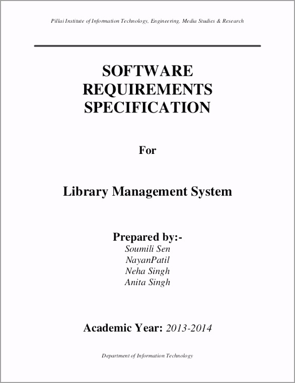 software requirements specification of library management system 1 638 iieii