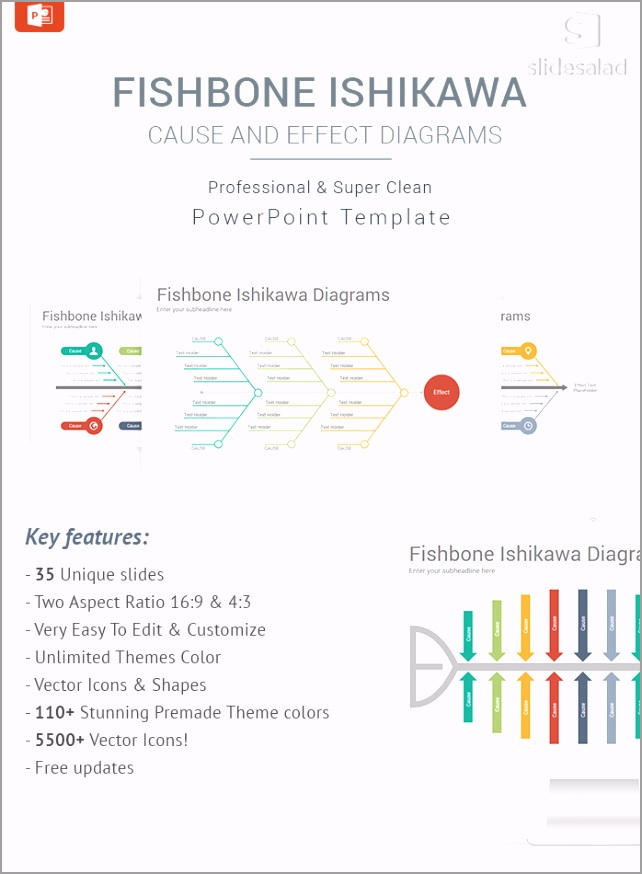 Fishbone Ishikawa Matrix Diagrams PowerPoint Templates Designs aylor
