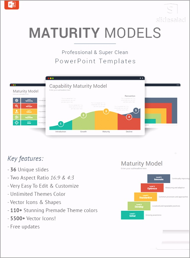Maturity Model Diagrams PowerPoint Templates Designs wawit