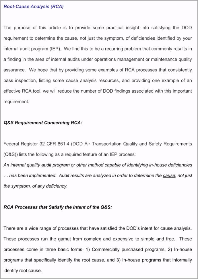 Sample RCA Report akryu