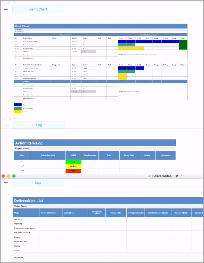 Project Plan Template Apple Numbers Gantt Chart yourp