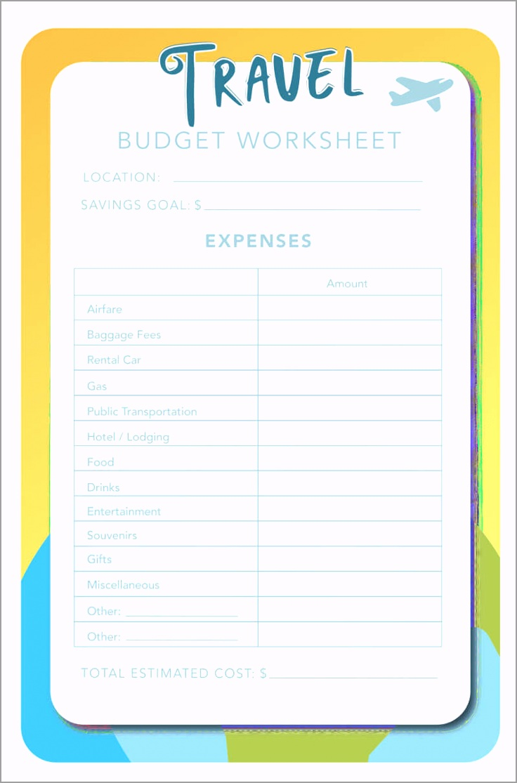 Travel Bud Worksheet PDF yrjiu