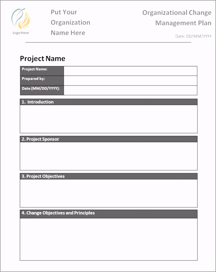 Change Management Plan Template rpaty