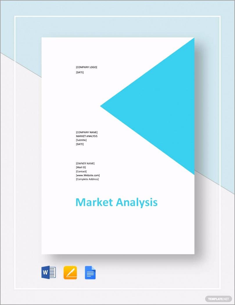 Blank Market Analysis Template pewwu