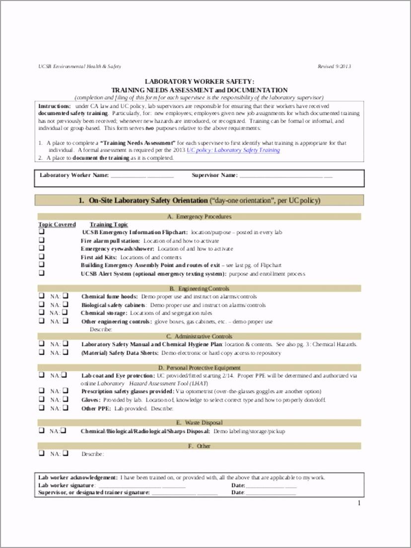 Employee Training Needs Assessment yrata