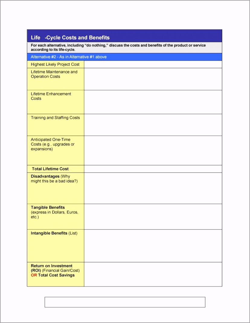 Cost Benefit Analysis Template 012 wpeva