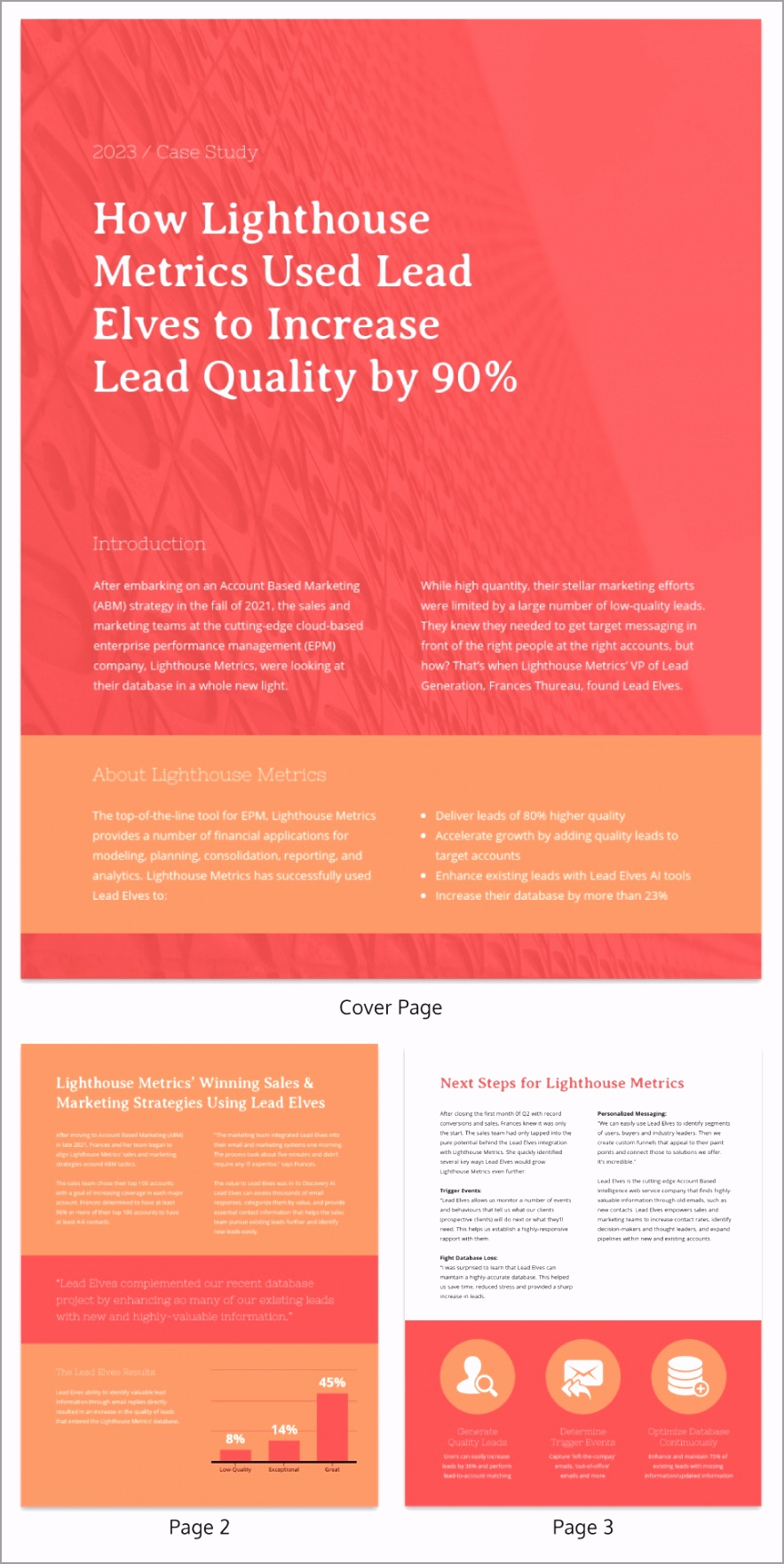 Red SAAS Business Case Study Template irety