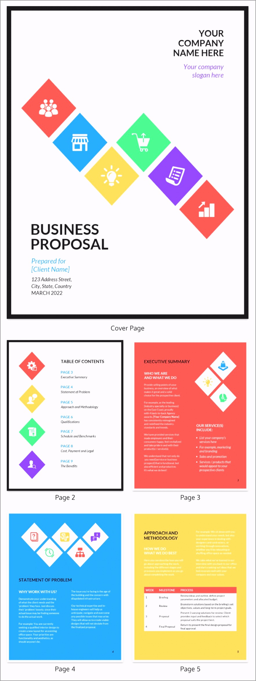 Modern Business Proposal Template 1 utiix