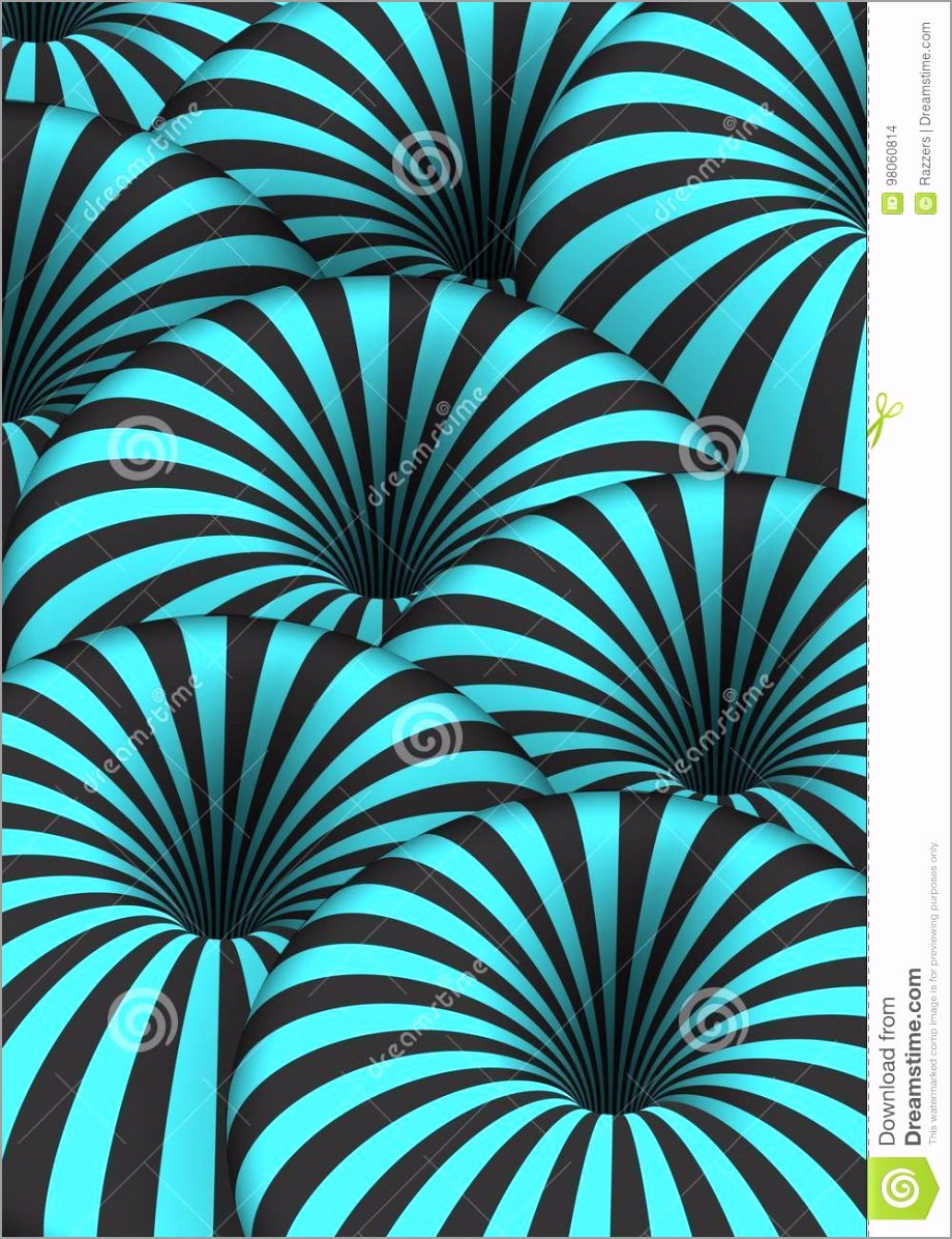 vector optical illusion spiral tunnel hole effect striped d motion lines illustration tejrw