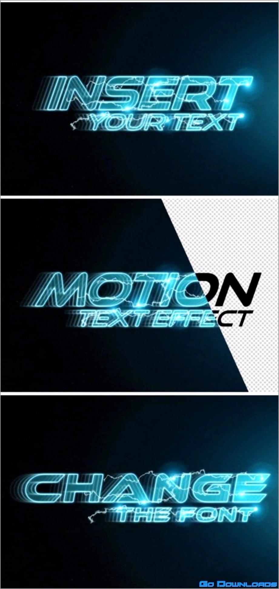 in motion text effect mockup free uwiui