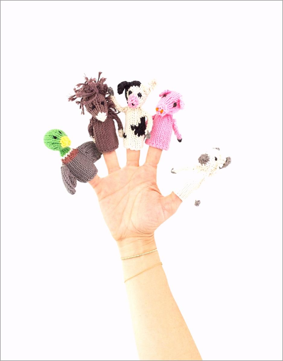 Knitted Finger Puppet Set Farm Animals The Little Market uiiie