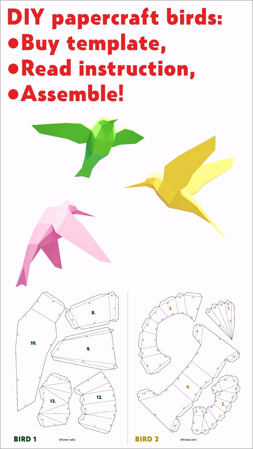 large 3d birds with images bird paper craft paper in 3d bird template eptew