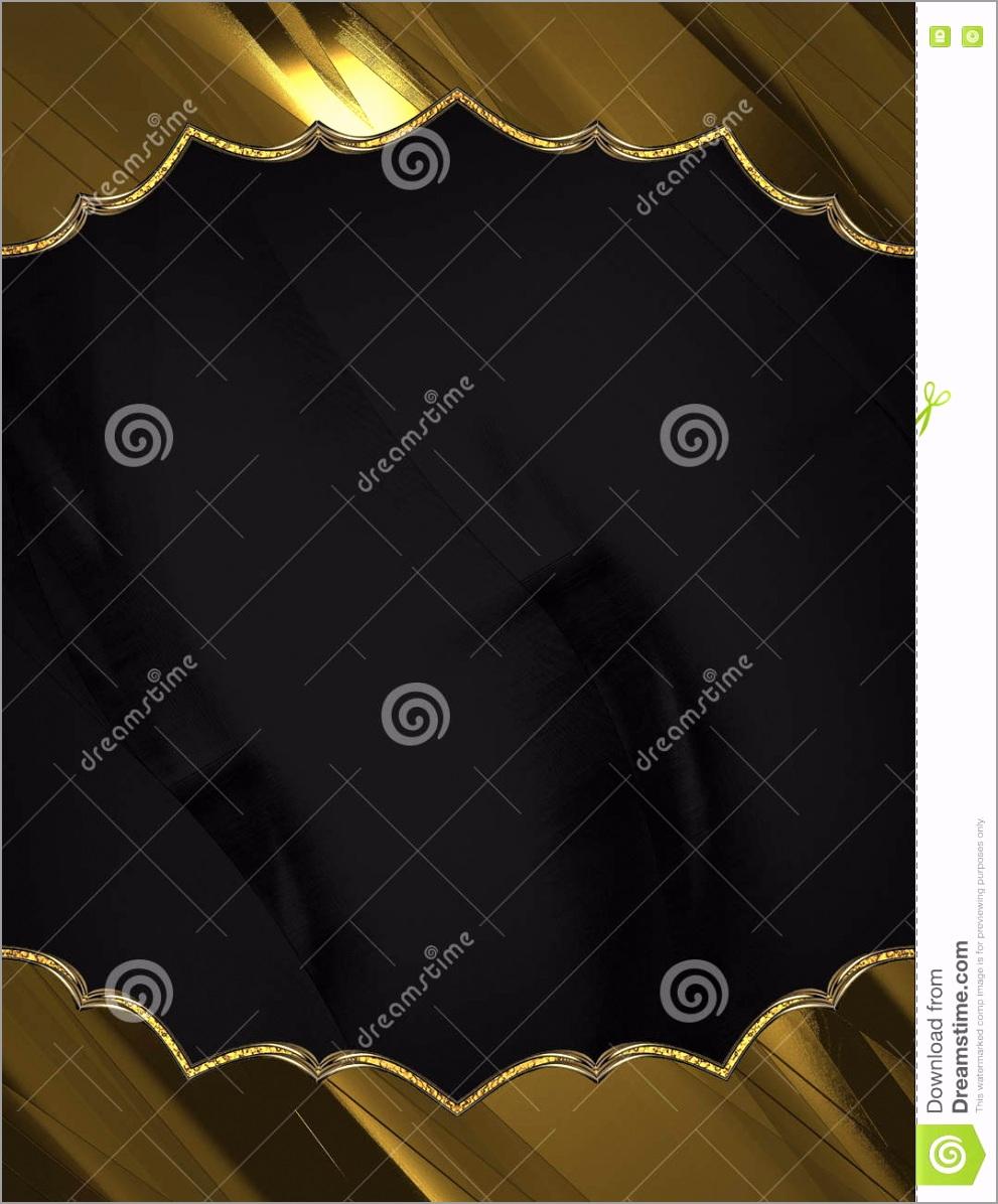 black frame golden edge template design copy space ad brochure announcement invitation abstract background iuqxi