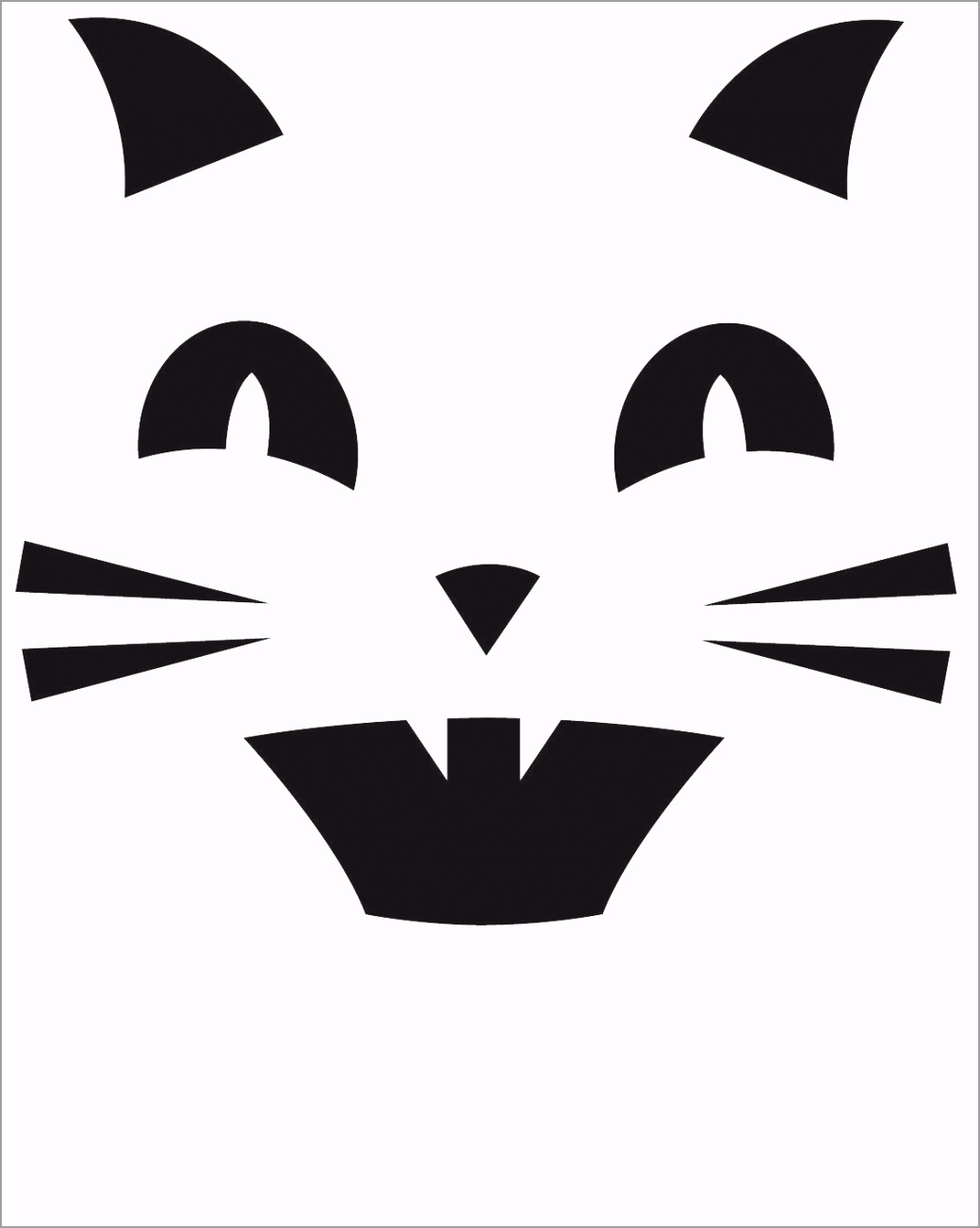 Cat Printable Pumpkin Carving template wooqr