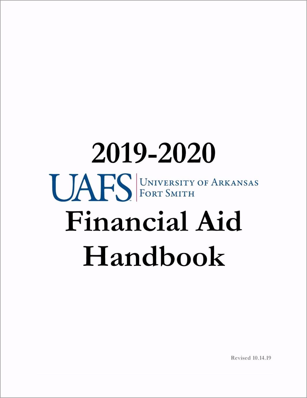 financial aid handbook uptue
