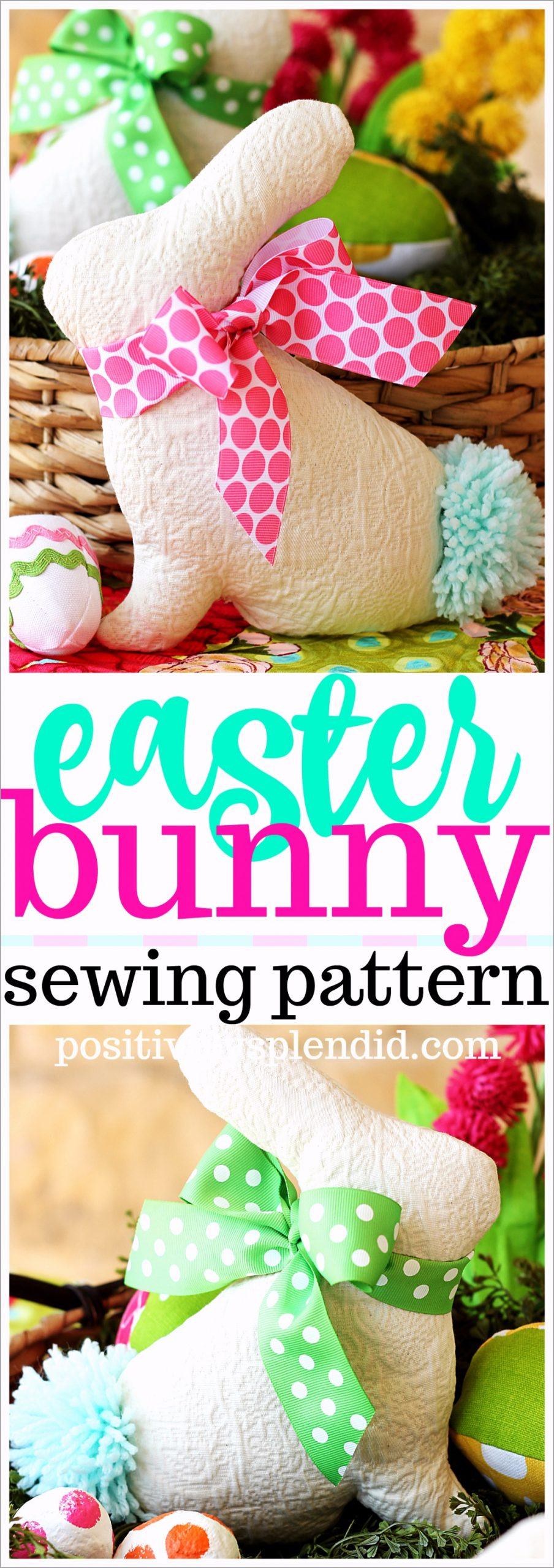 Easter Bunny Sewing Pattern Title iieha