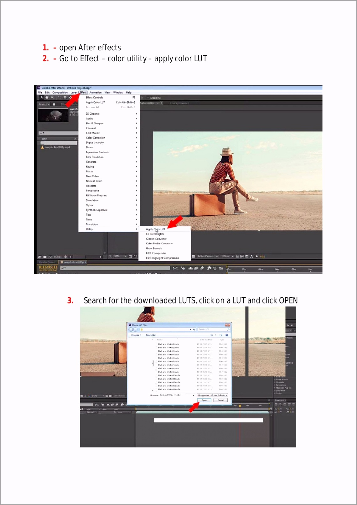 how to install luts effects on after effects 1 tpwia
