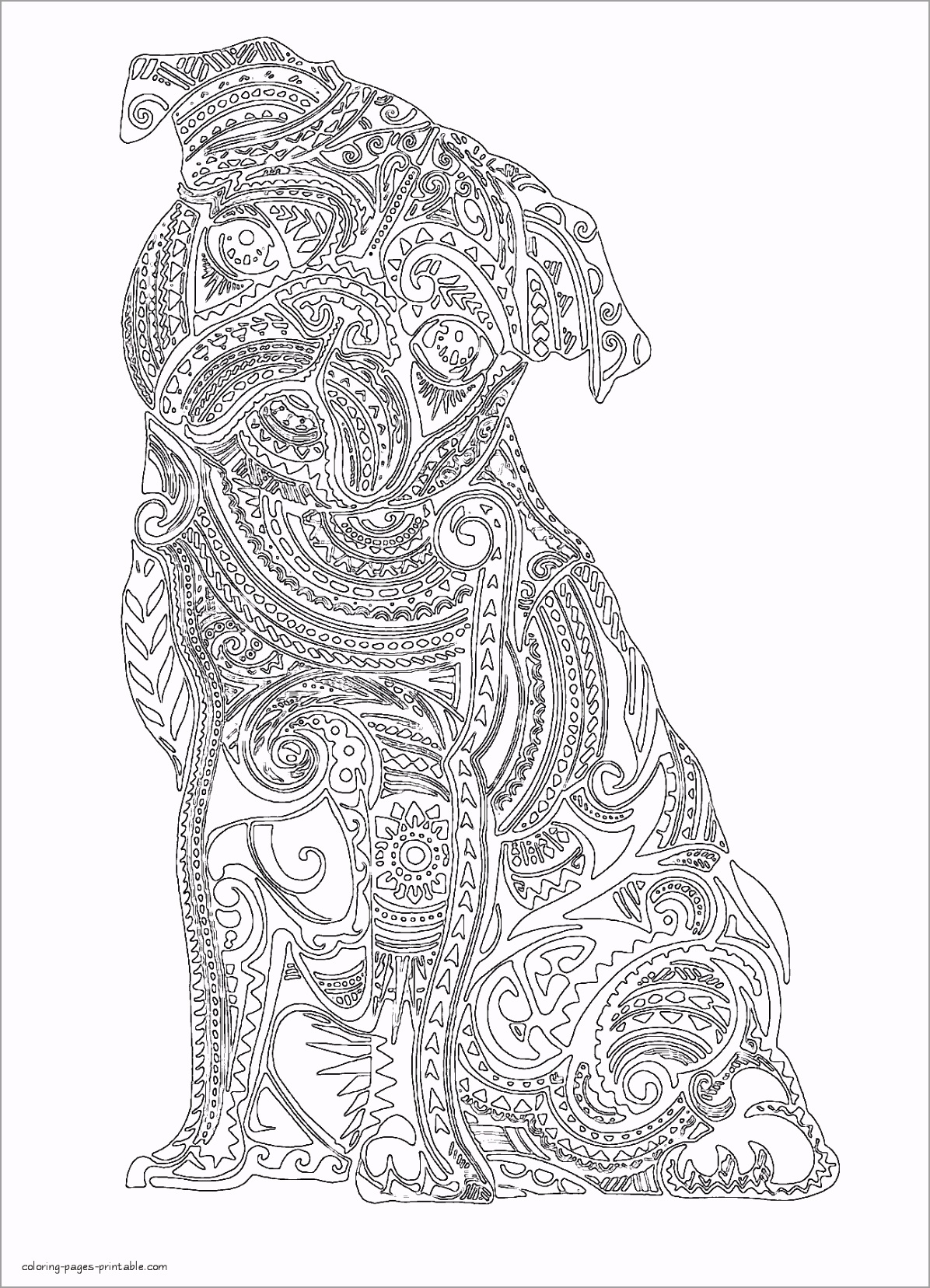 free coloring pages for adults printable hard to color colouring beautiful book fabulous animals cute of turuy