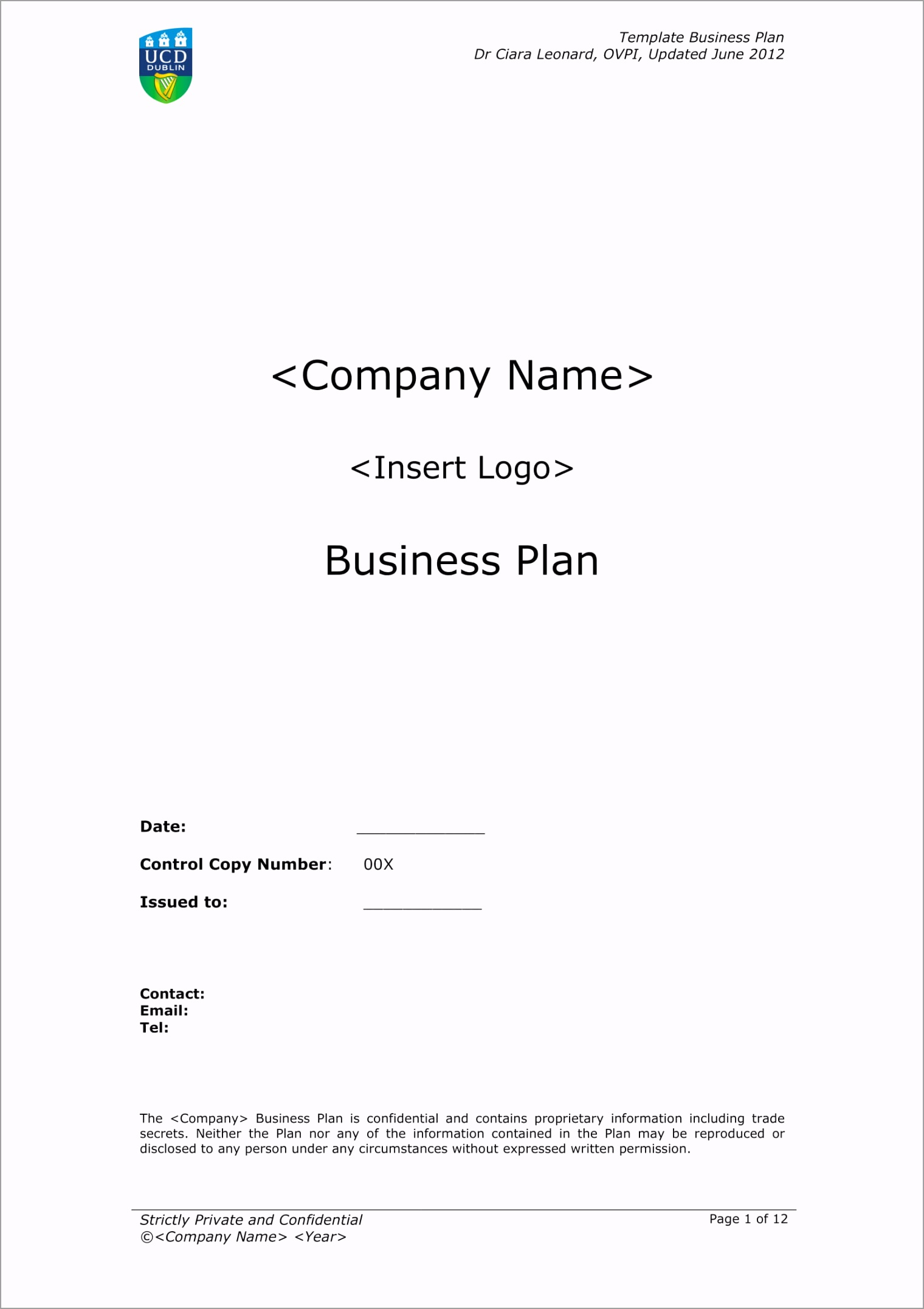 Business Plan Template With Marketing Analysis Example 01 yxyau