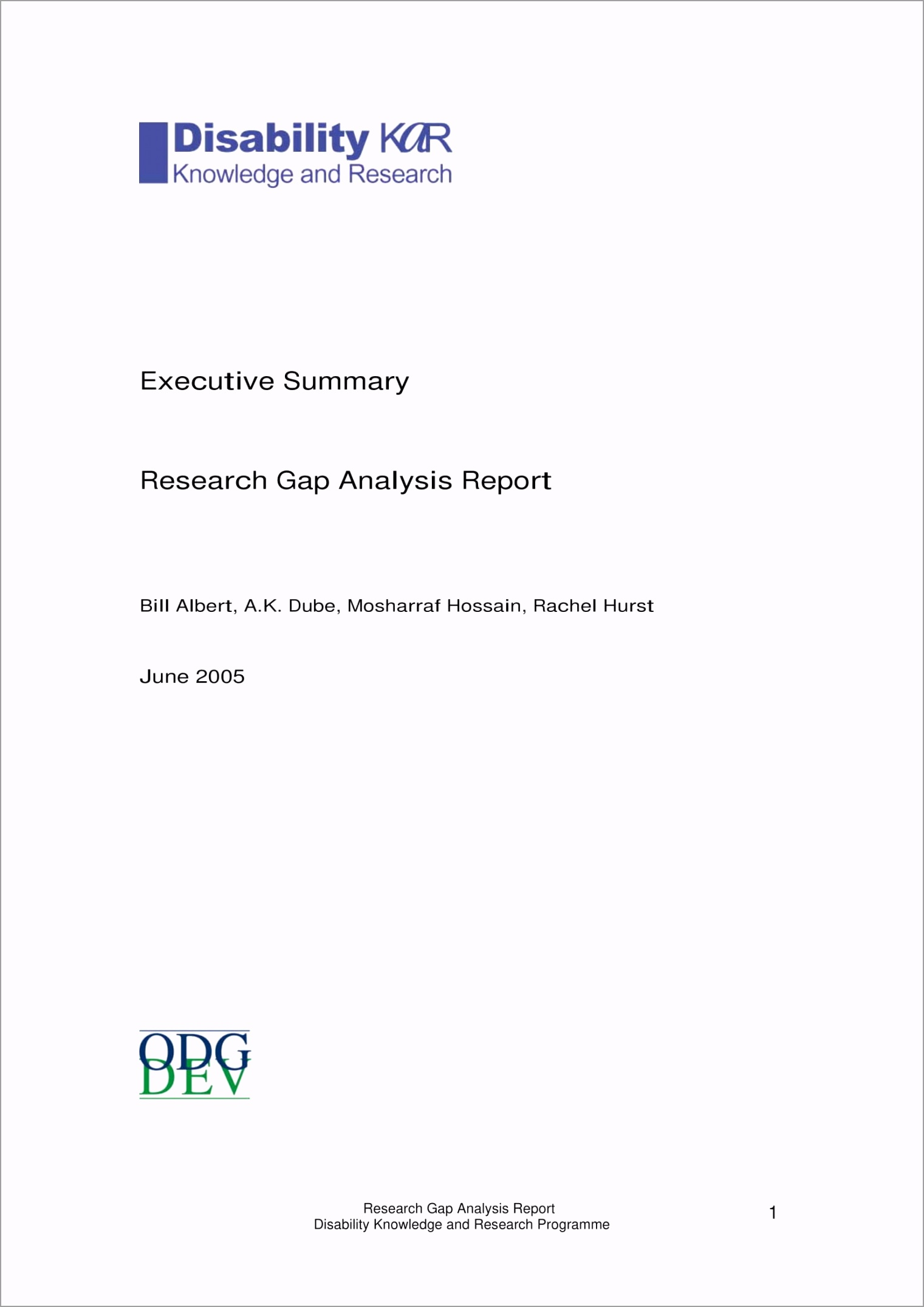 Research Gap Analysis Report Executive Summary Example 1 oiwot