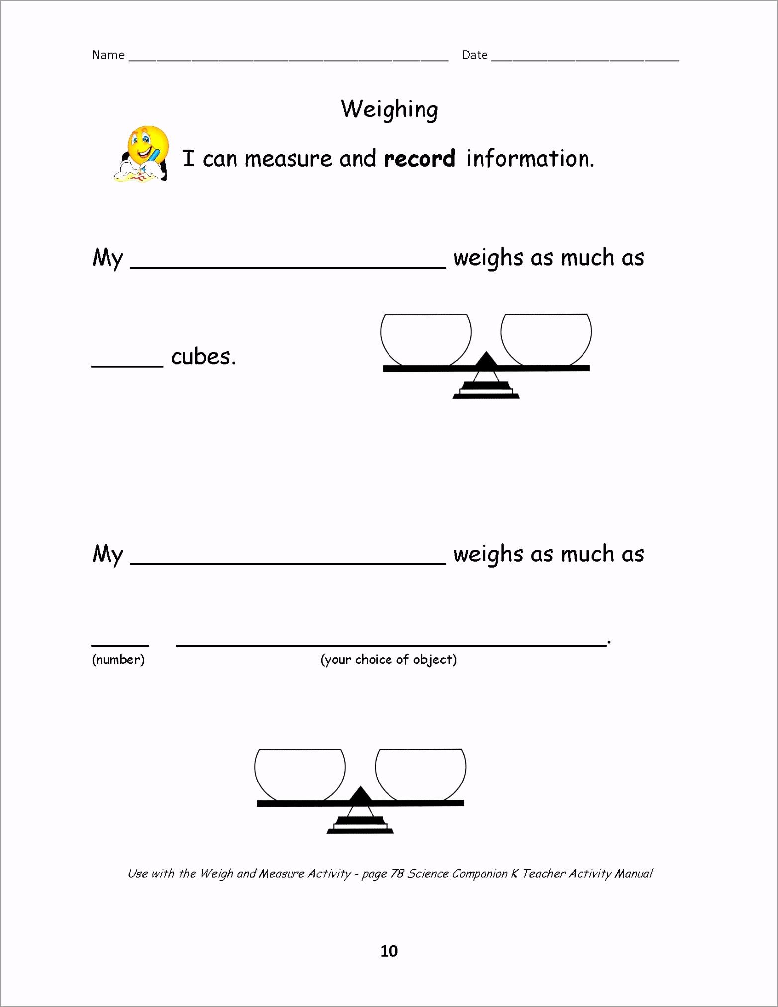 WeighingWorksheet iarue
