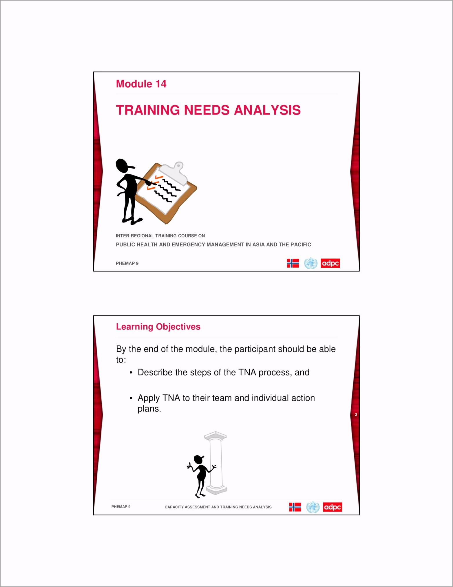 Training Gap and Needs Analysis Module Example 01 eeeoz