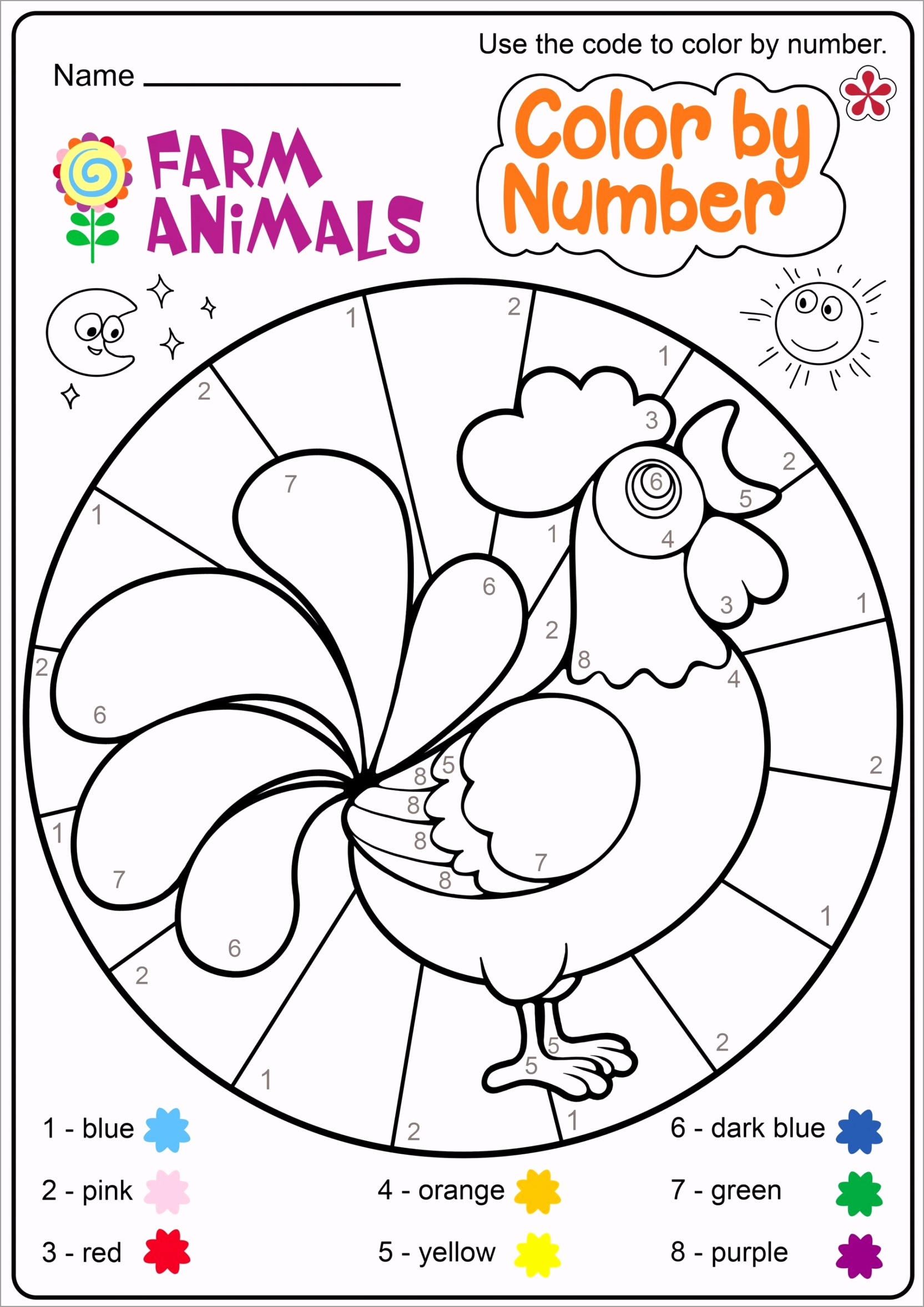 farm animal worksheet for free printable worksheets and zoo themed math color by number solve problem show steps problems toddler learning activities facts about multiplication scaled ipapw