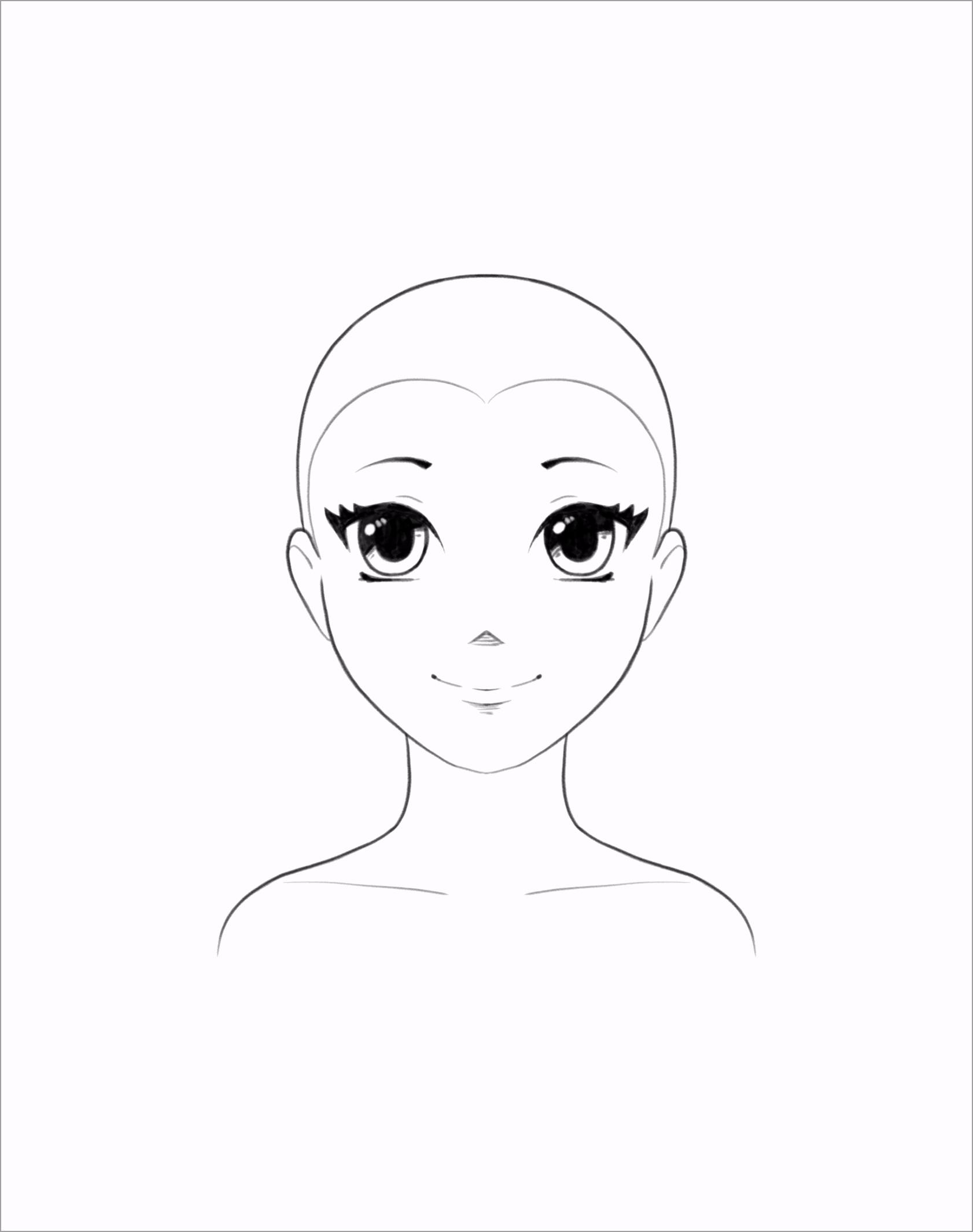 how to draw anime hair template atjui