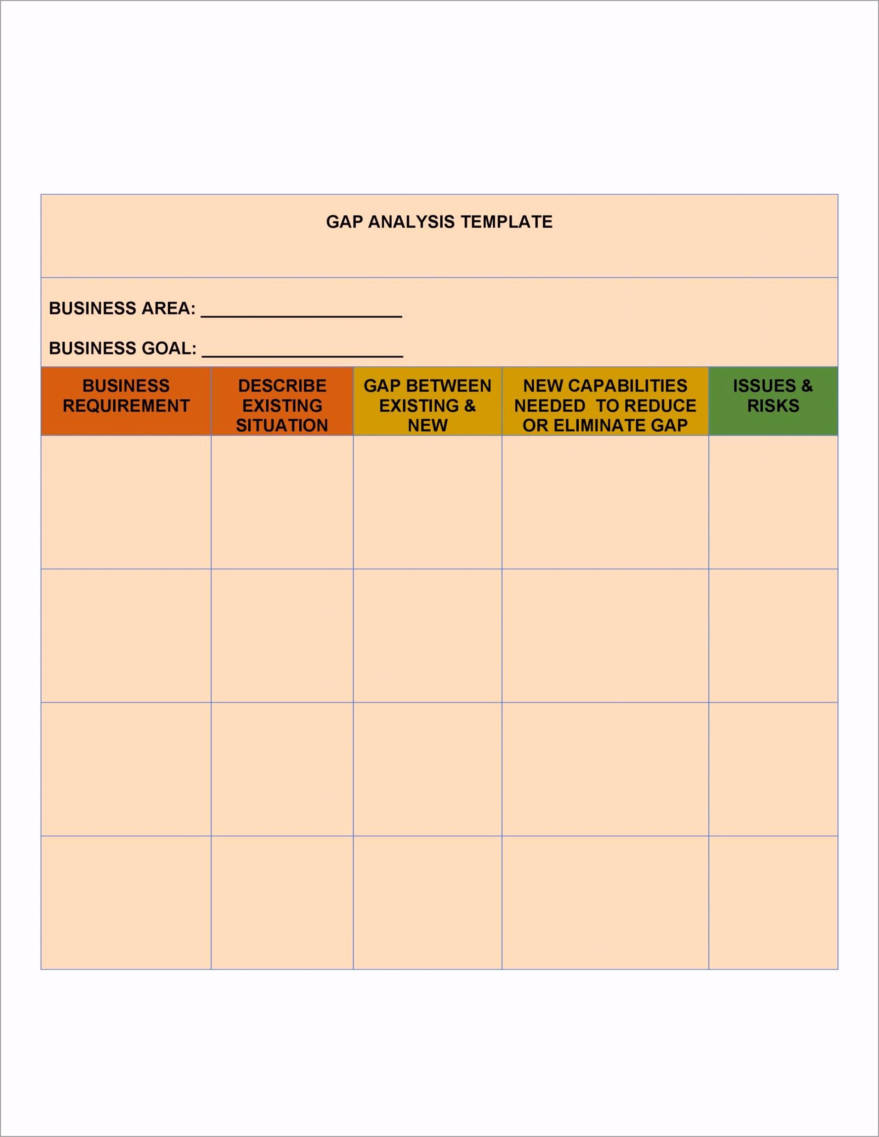 Gap Analysis Template 04 otift