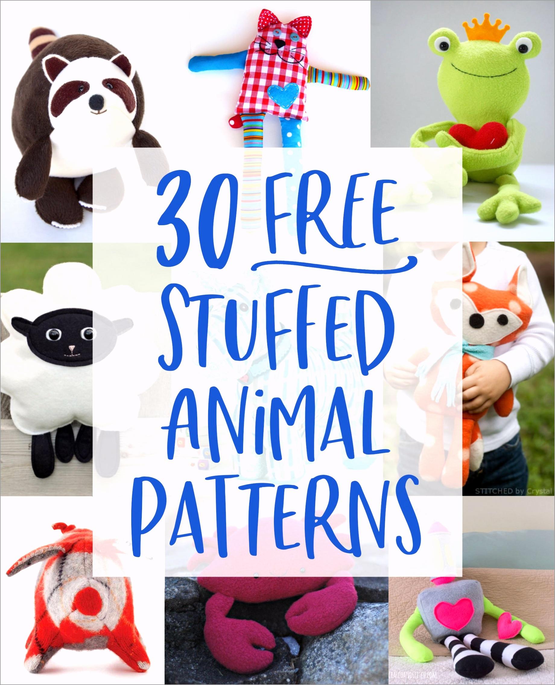 30 free stuffed animal patterns scratchandstitch priiu