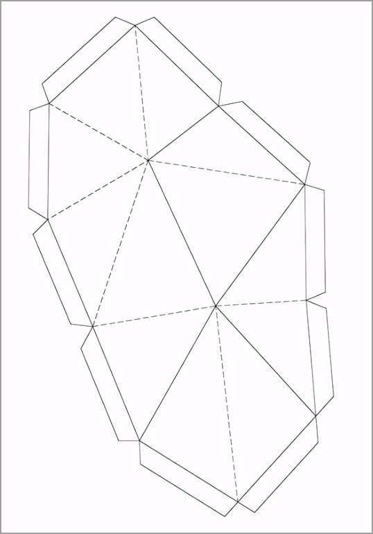 Paper folding Template Model in Rhino yatre