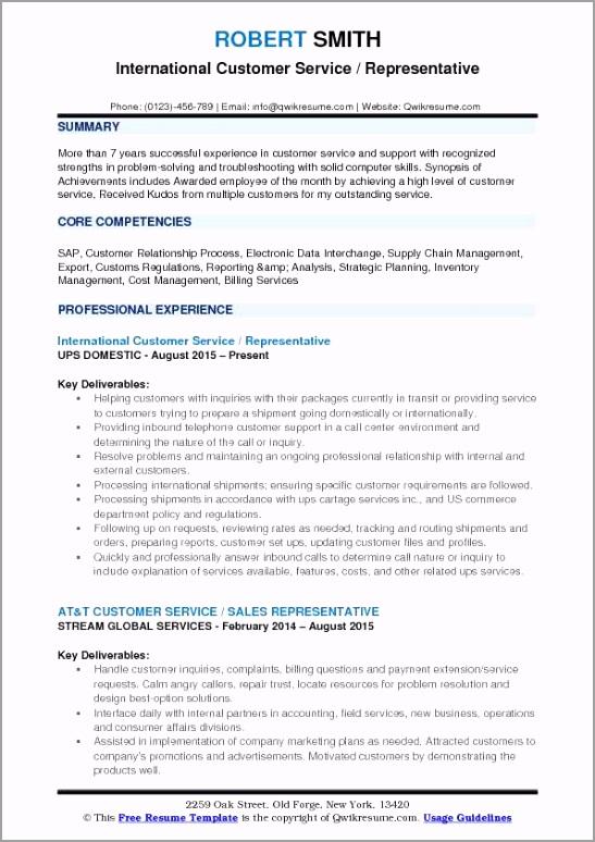 international customer service representative pdf oueut