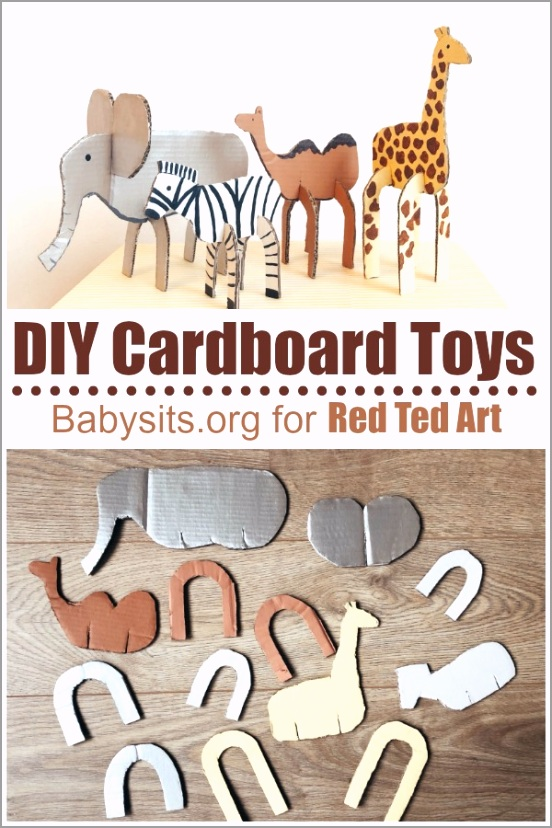 Easy cardboard animals aleii