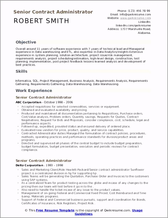 senior contract administrator pdf yueap