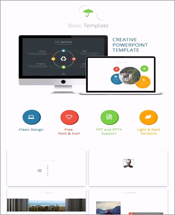 Basic Powerpoint Creative and Colorful Presentation Template oyaui