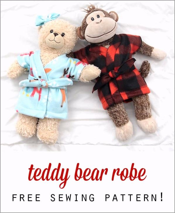 Teddy Bear Robe Free Sewing Pattern iiawp