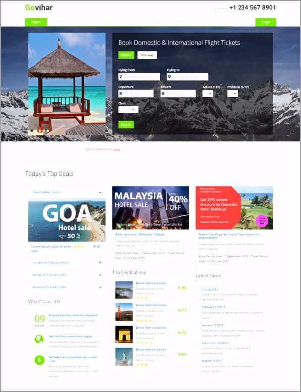 30 high quality travel website 5 bootstrap template free 2018 uytuu