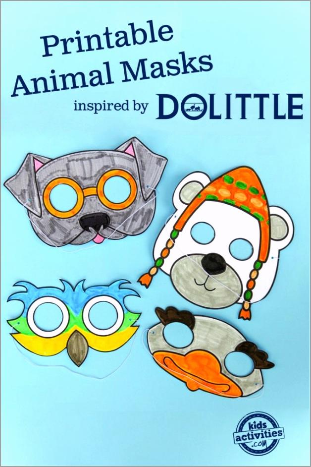 Printable Animal Masks inspired by Dolittle copy 683x1024 utiar