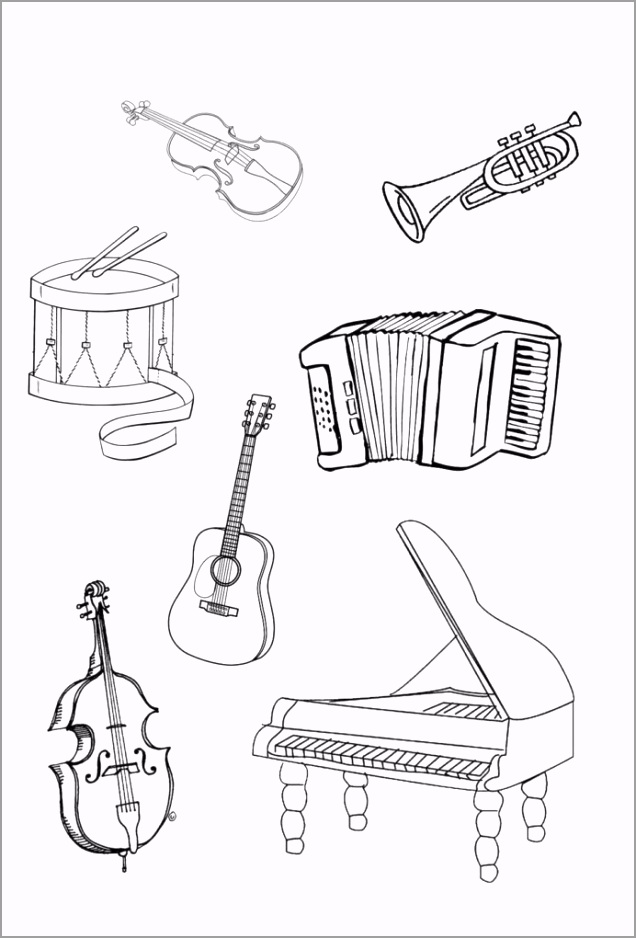pin on music musical instruments coloring sylvan learning center math word wall craft 692x1020 ueaii
