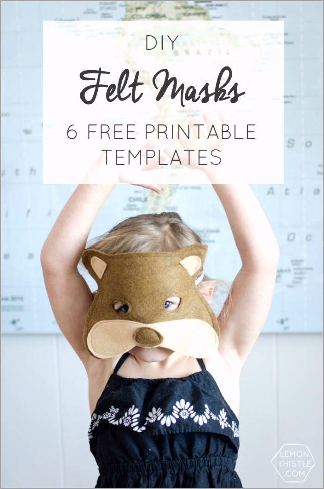 diy felt masks 6 free templates witte