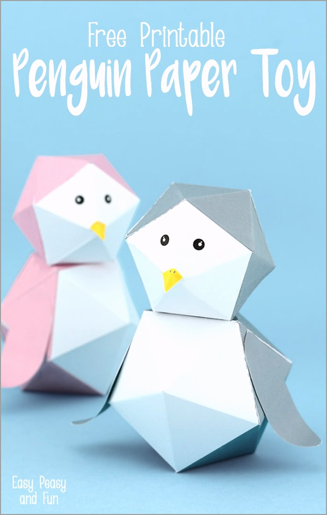 3D Free Printable Penguin Paper Toy wuyaa
