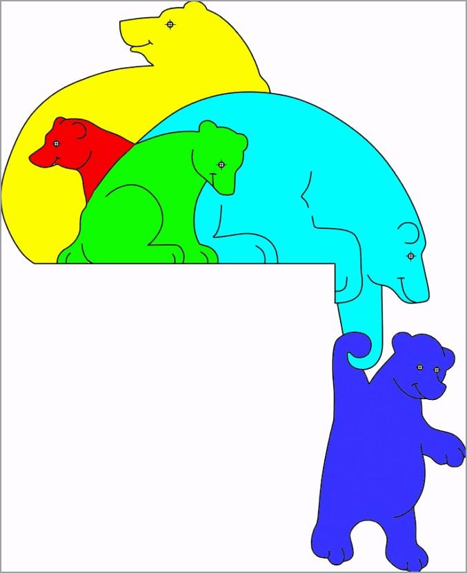 scroll saw patterns of bears01P waoat