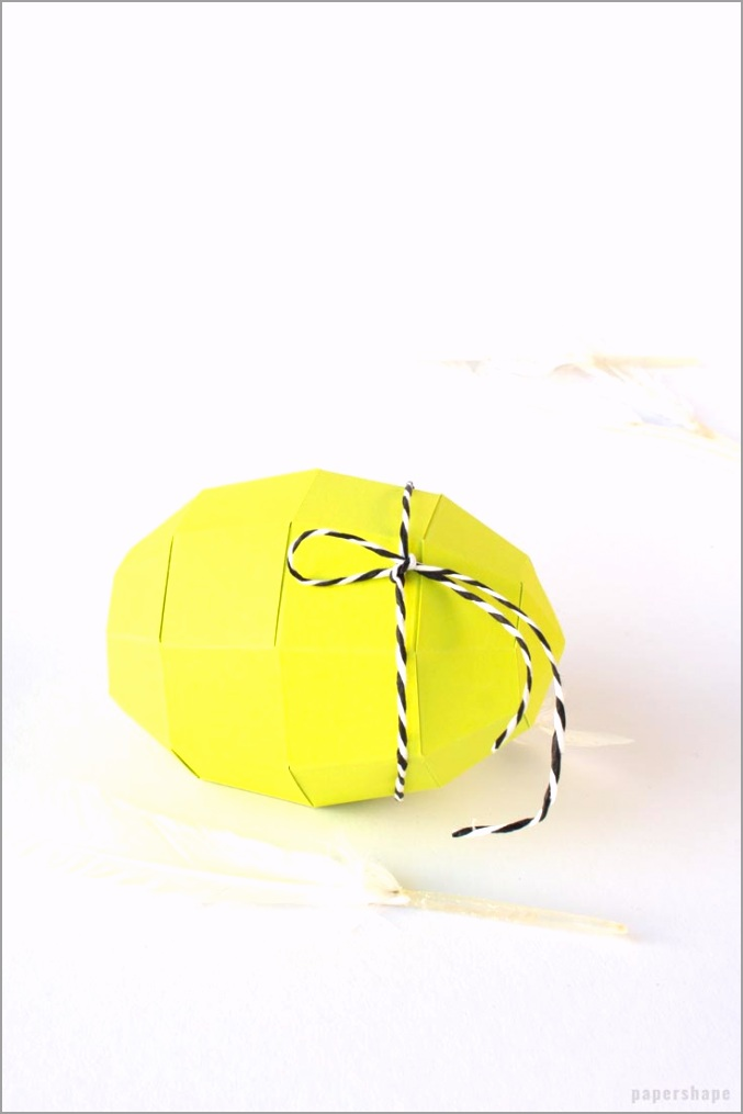 how to make 3d paper easter egg tokuo