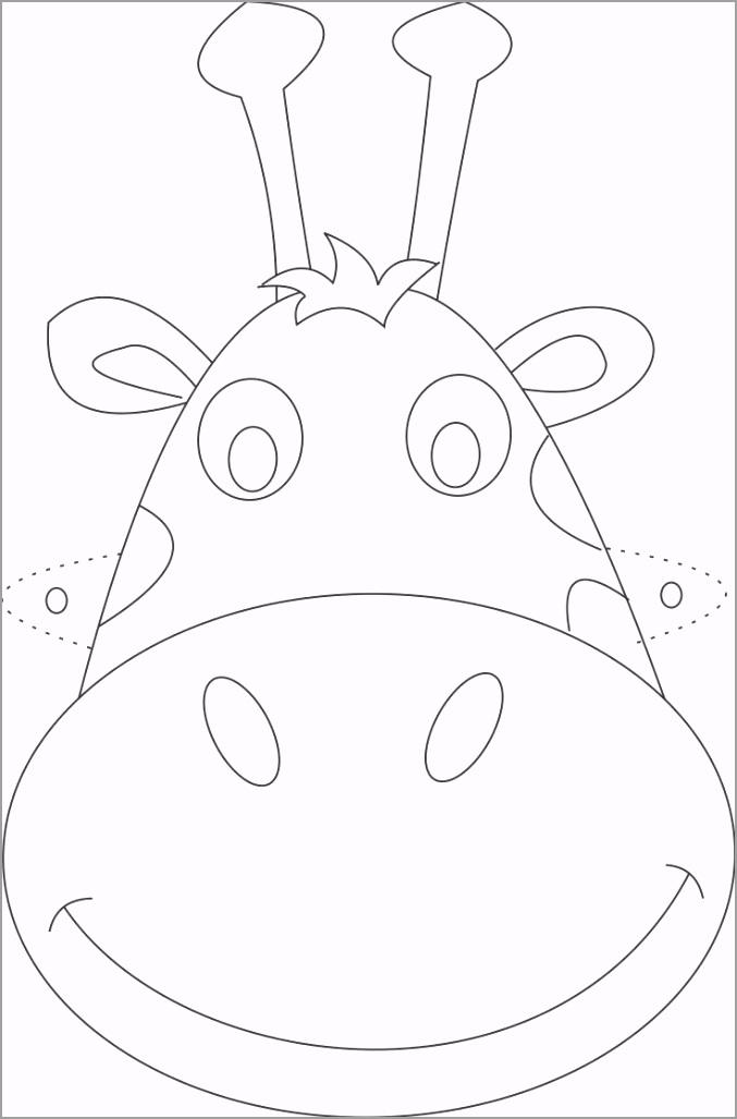giraffe face drawing 6 ureip