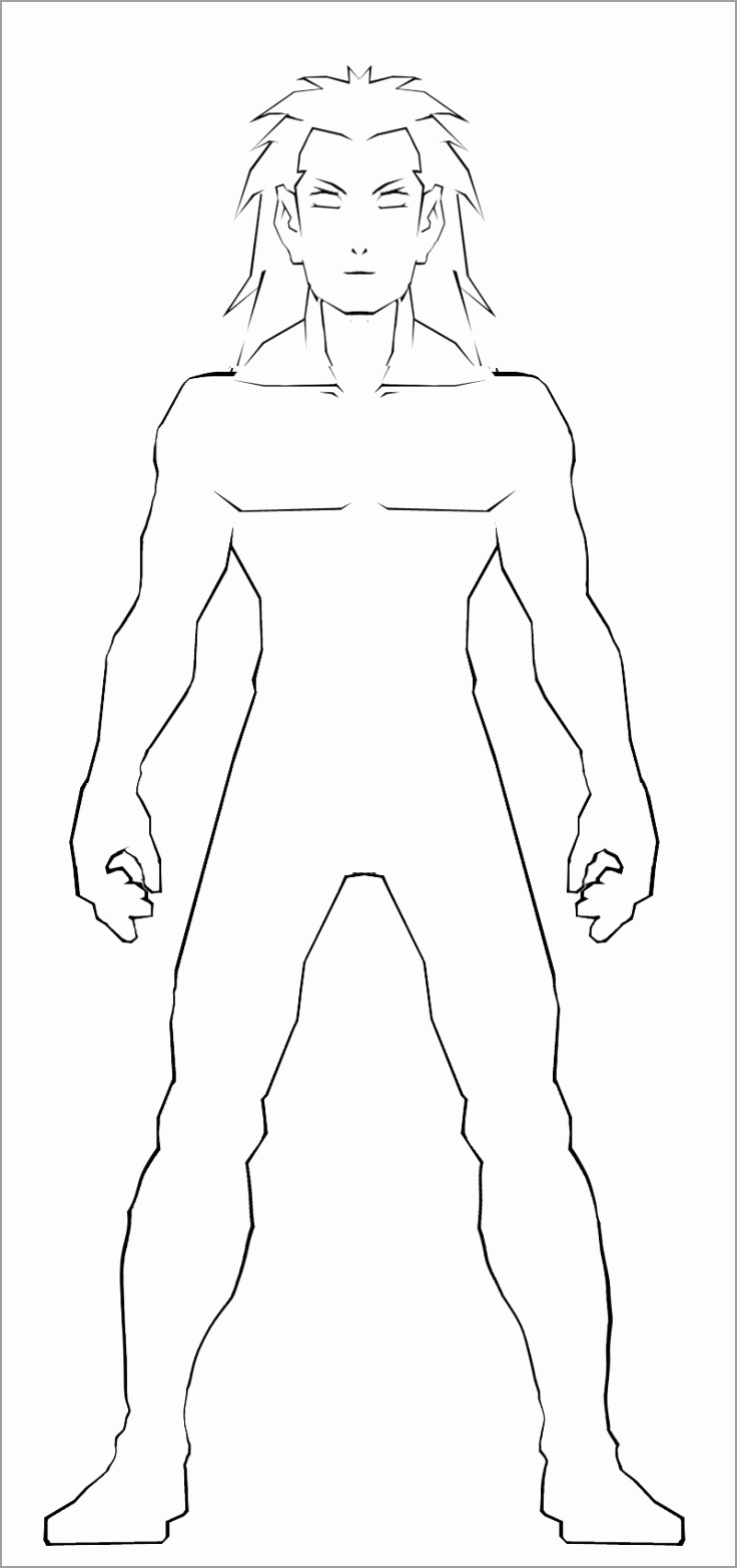 anime body templates for drawing 4 woawe
