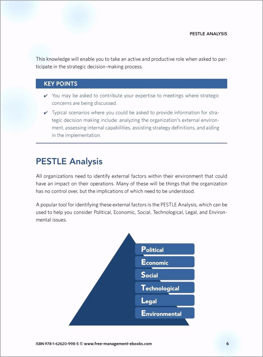 Pestle analysis strategy skills team fme free management ebooks isbn 978 1 998 5 rotie
